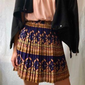 edme and esyllte pleated geometric skirt